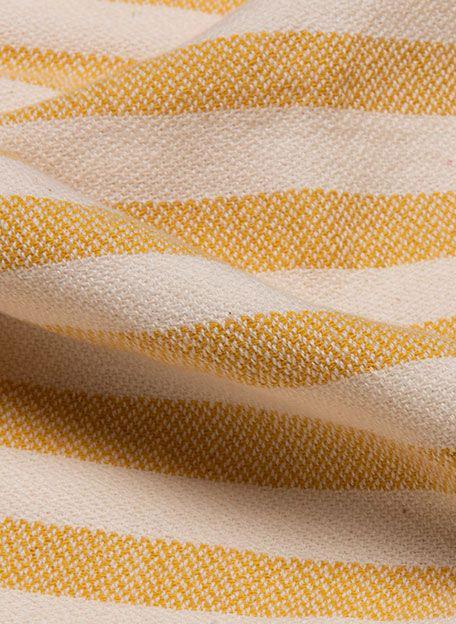 Hamamdoek Stripe Zomergeel detail