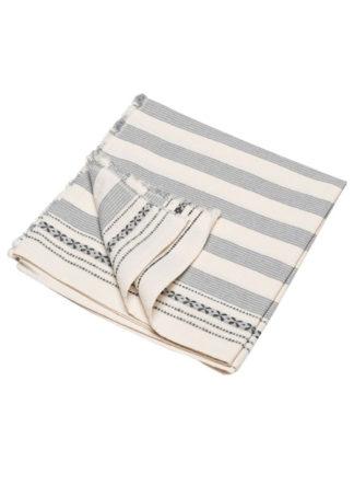 Nizza Stripes Zomerhanddoek grijs