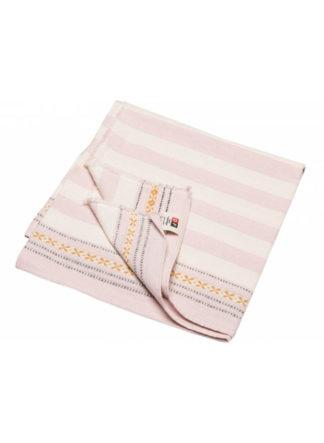 Nizza stripes zomerhanddoek roze