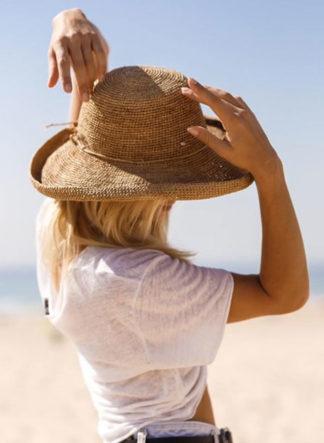 Le Voyage en Panier gevlochten-raffia zonnehoed Roulotte