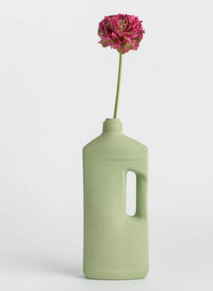 porcelain bottle vase #3 dark green
