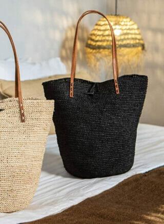gevlochten tas zwart ilana