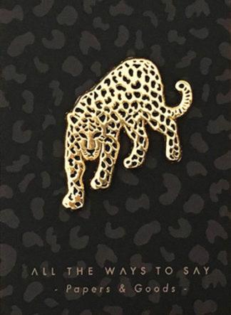 Leopard speld op kaart