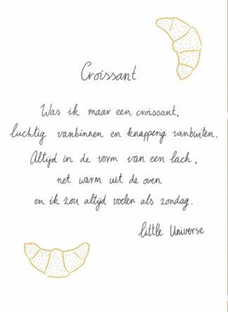 Little Universe postcard 'Croissant'