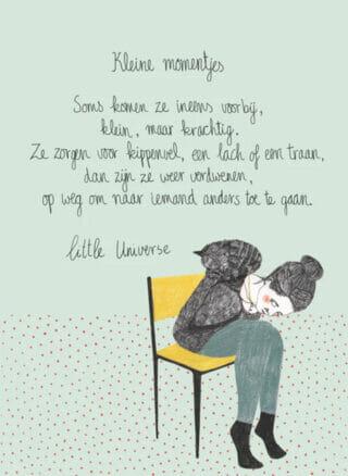 Little Universe postcard 'Kleine momentjes'
