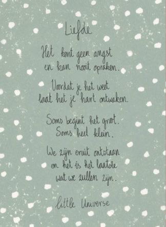 Little Universe postcard 'Liefde'