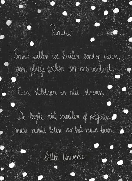 Little Universe postcard 'Rauw'
