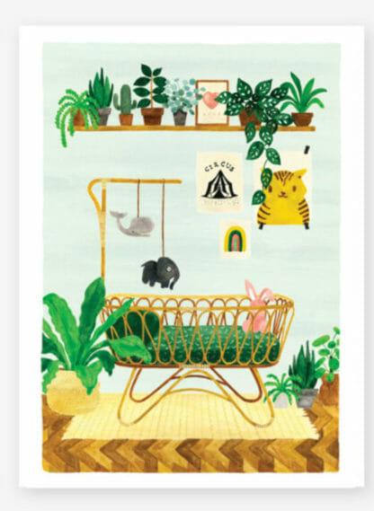Boy Bedroom print poster voor babykamer