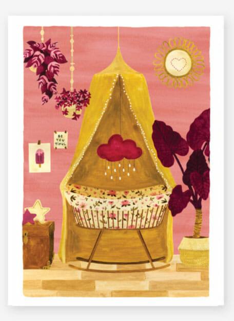 Poster voor de babykamer meisje