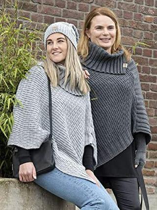 gebreide poncho nicky van knit factory