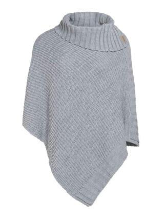 lichtgrijs poncho knit factory